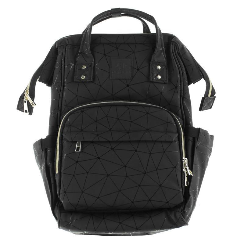 Backpack Diaper Bag - Black Geometric