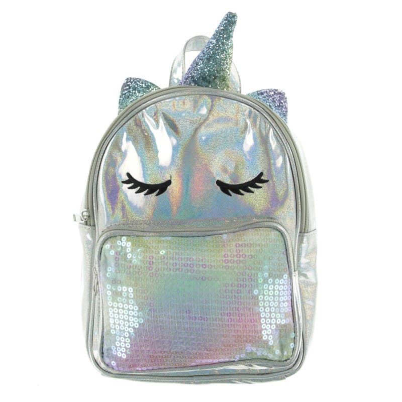 Unicorn Backpack - Silver
