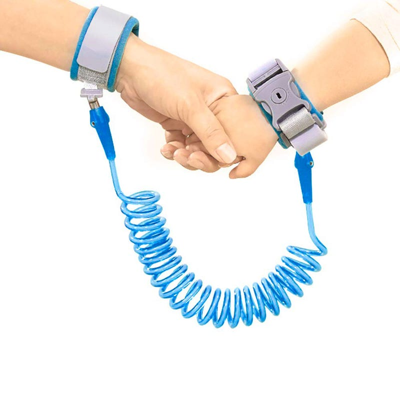 Safety Bracelet with Key - Blue