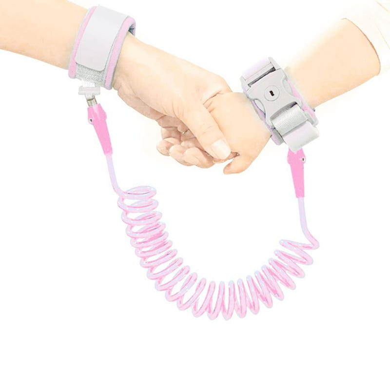 Safety Bracelet with Key - Pink