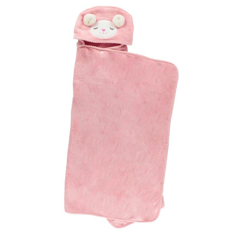 Deluxe Hooded Towel Llama - Pink