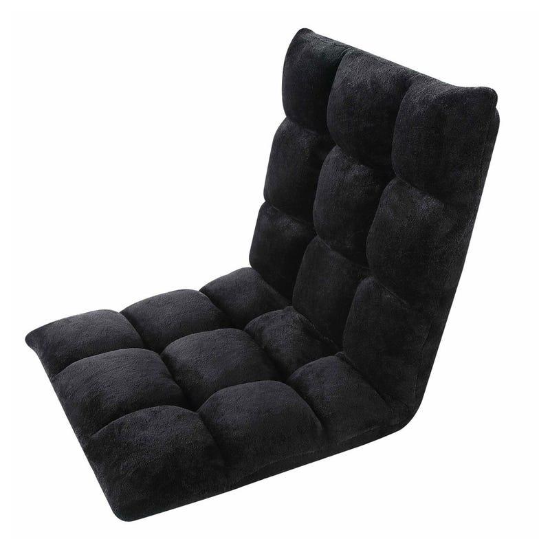 Folding Gaming Chair - Black Velvet