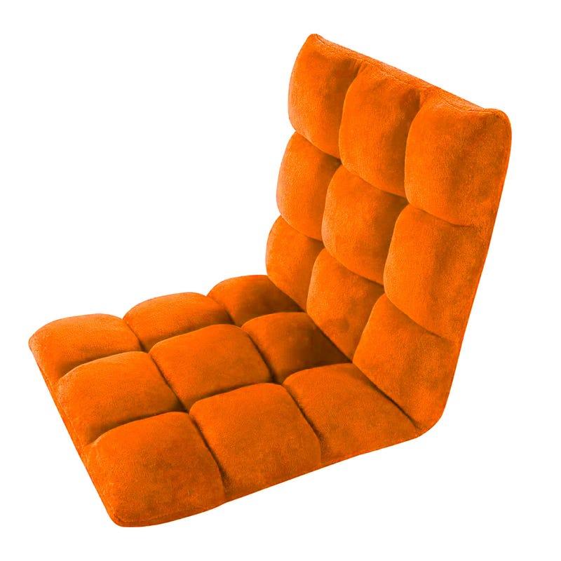 Folding Gaming Chair - Orange Velvet