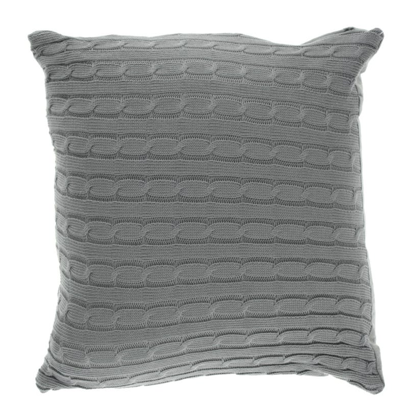Cushion Grey Knitting