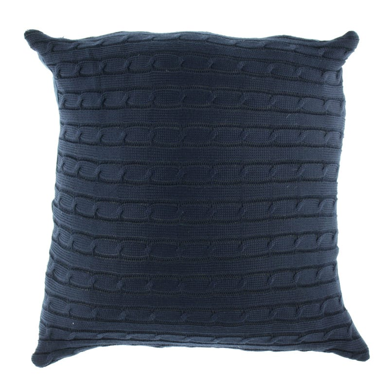 Cushion Navy Knitting