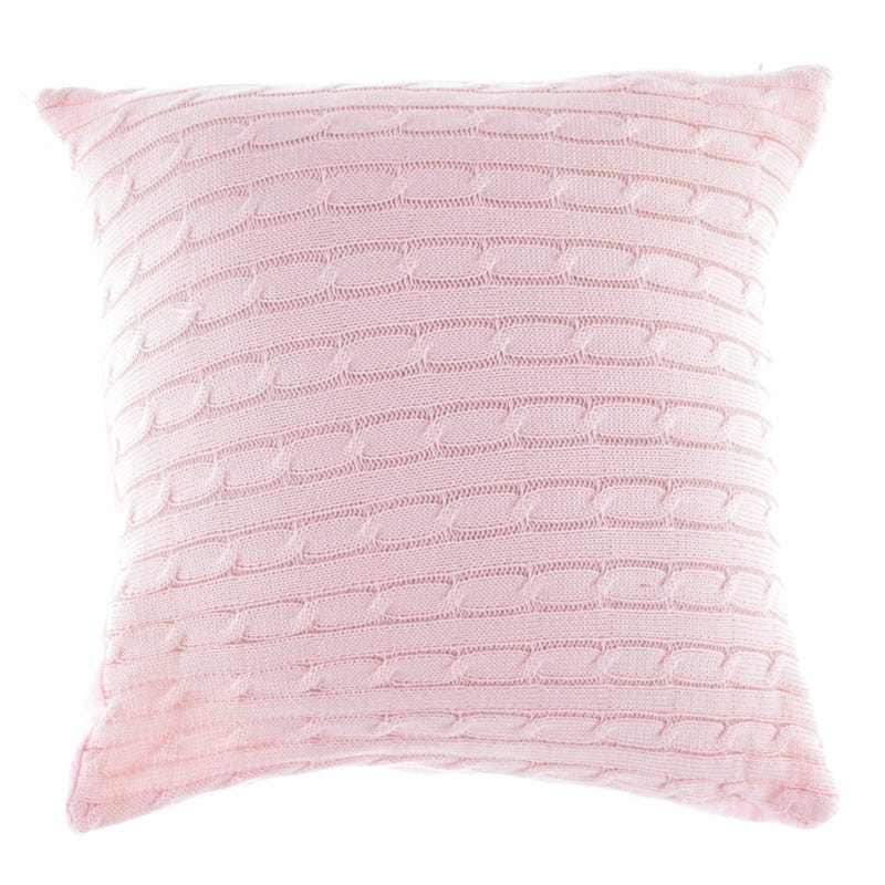 Coussin Tricot - Rose