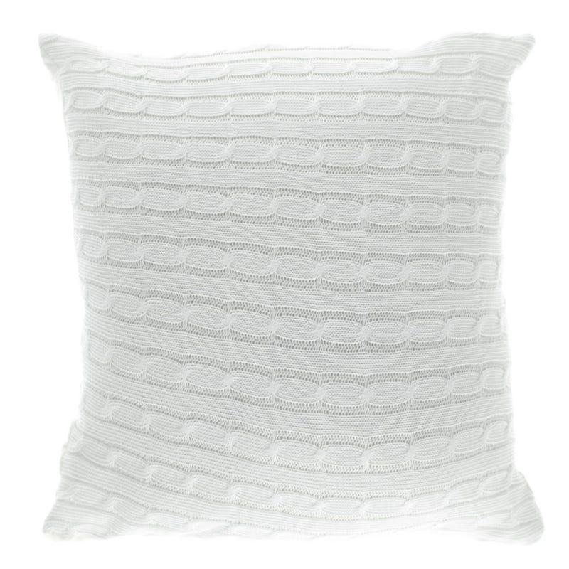 Knit Cushion - White
