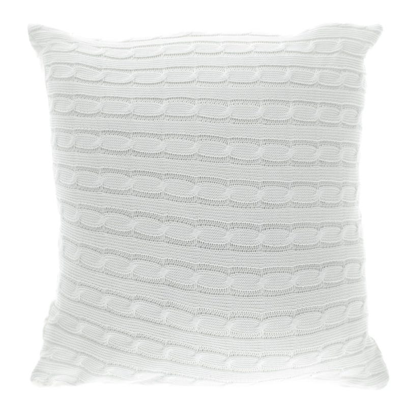 Cushion White Knitting