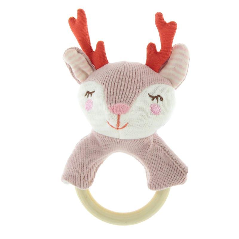 Rattle Deer - Pink
