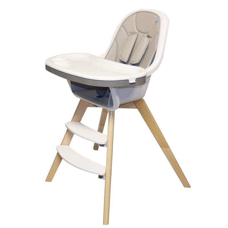 High Chair - Gray/Natural