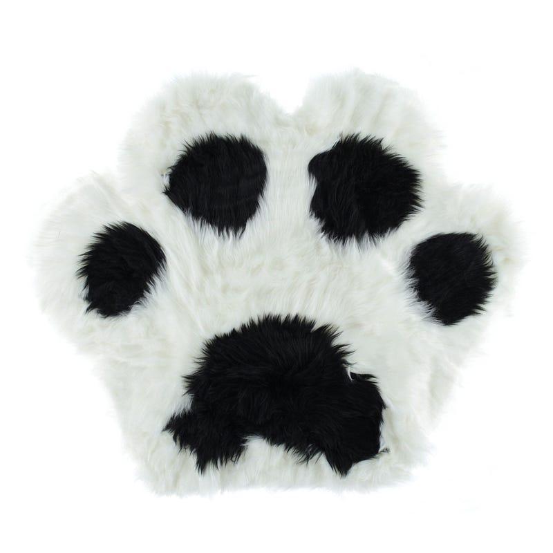 Fur Bear Paw Rug - White