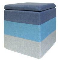 Tabouret de Rangement - Bleu