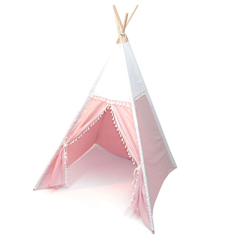 Teepee Tent Pink And Ivory