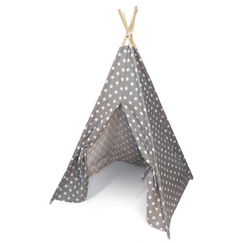 Teepee Tent Grey Stars