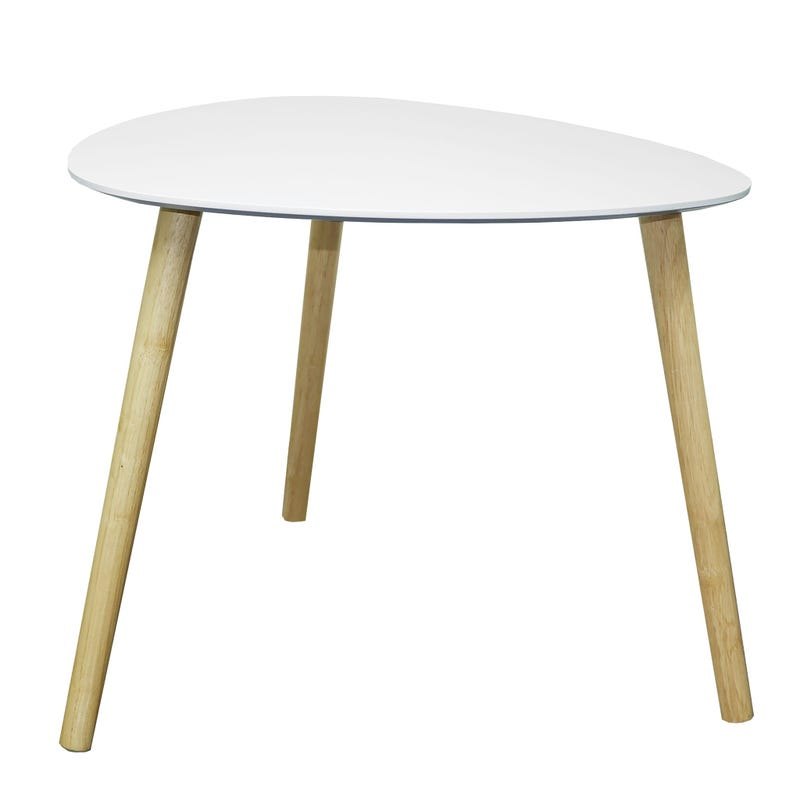 Table d'Appoint - Naturel/Blanc