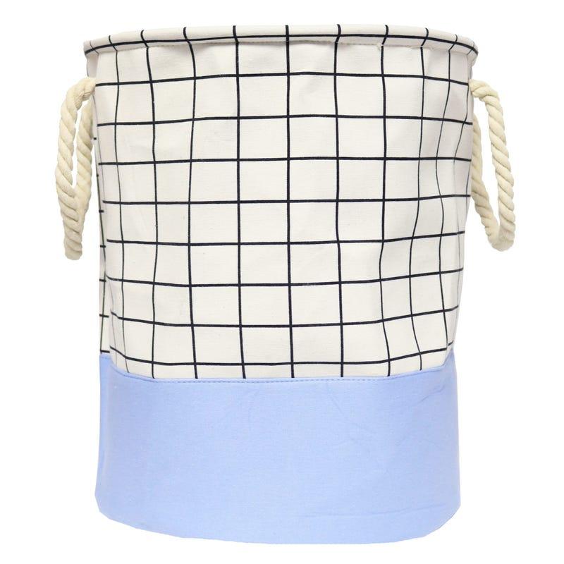 Laundry Basket - Blue Plaid