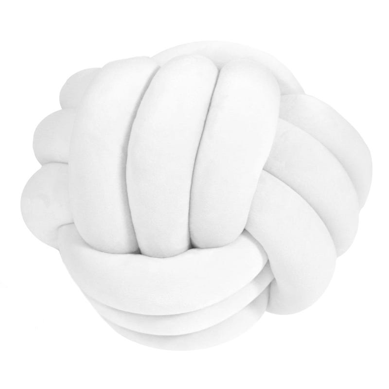Coussin Rond - Blanc