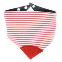Striped Teething Bib - Red