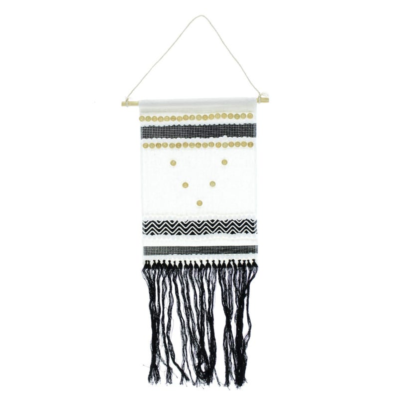 Wall Macrame -  Black/White