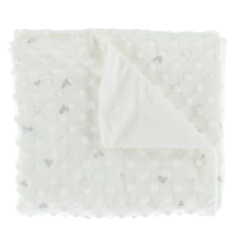 Heart Blanket - Gray