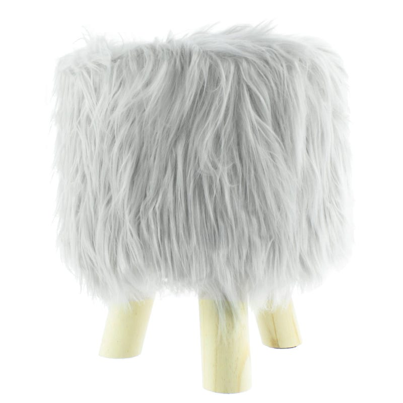 Standing Stool - Grey Fur
