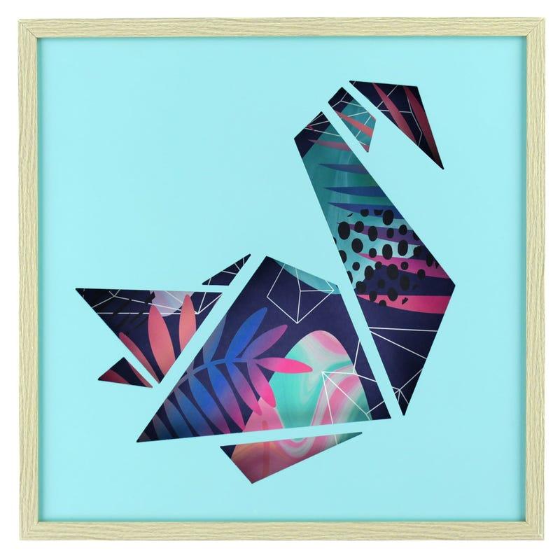 Swan Frame - Blue/Multicolour