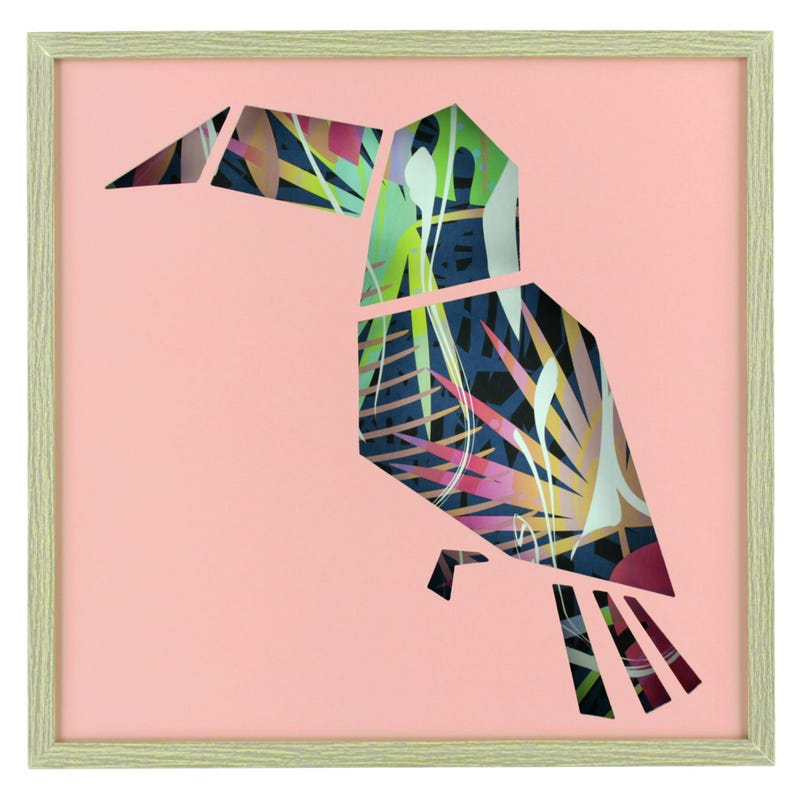 Toucan Frame - Pink/Multicolour
