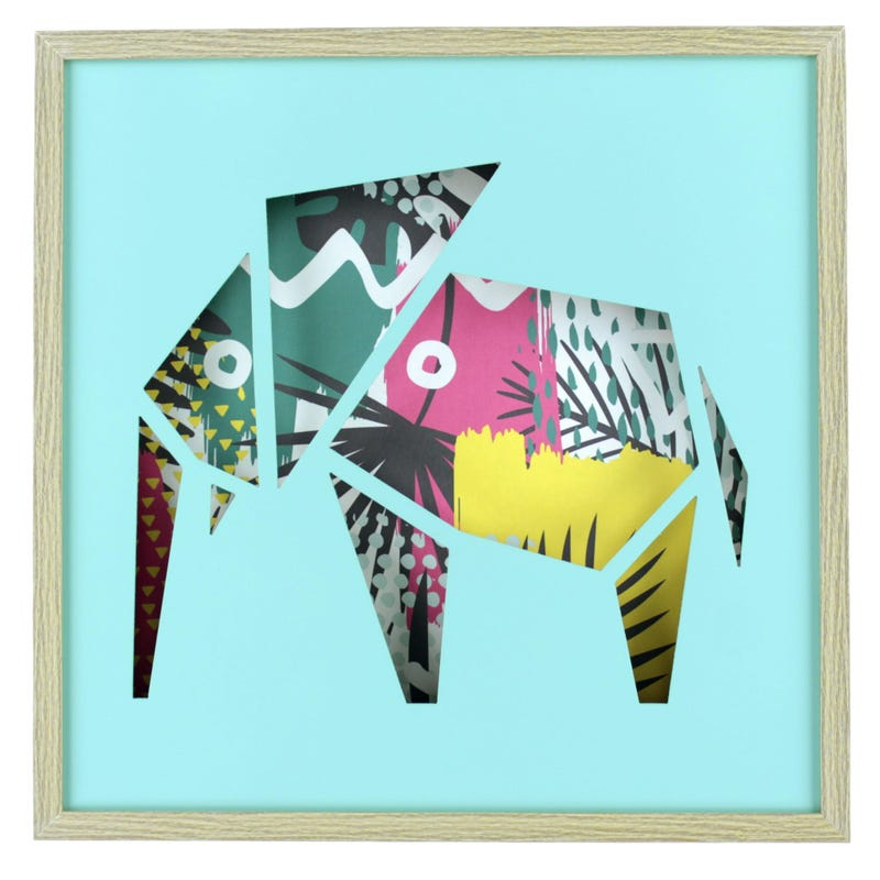 Elephant Frame - Blue/Multicolour