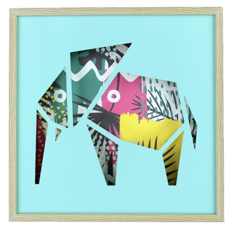 Elephant Frame - Blue/Multicolour