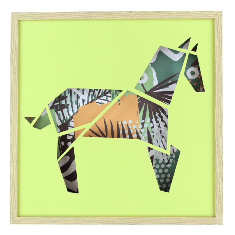 Zebra Frame - Green/Multicolour