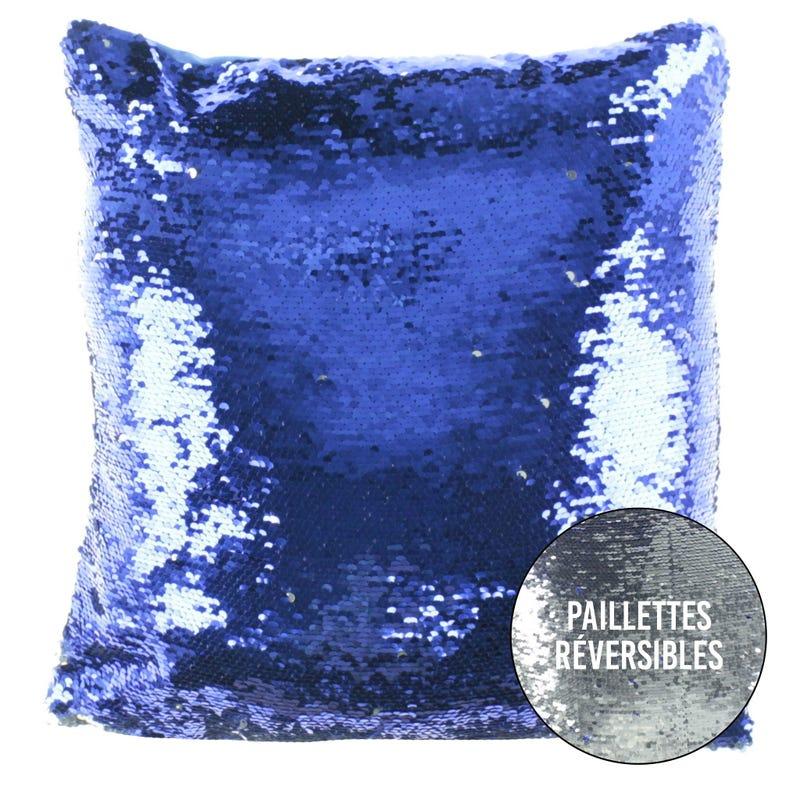 Cushion - Blue/Silver