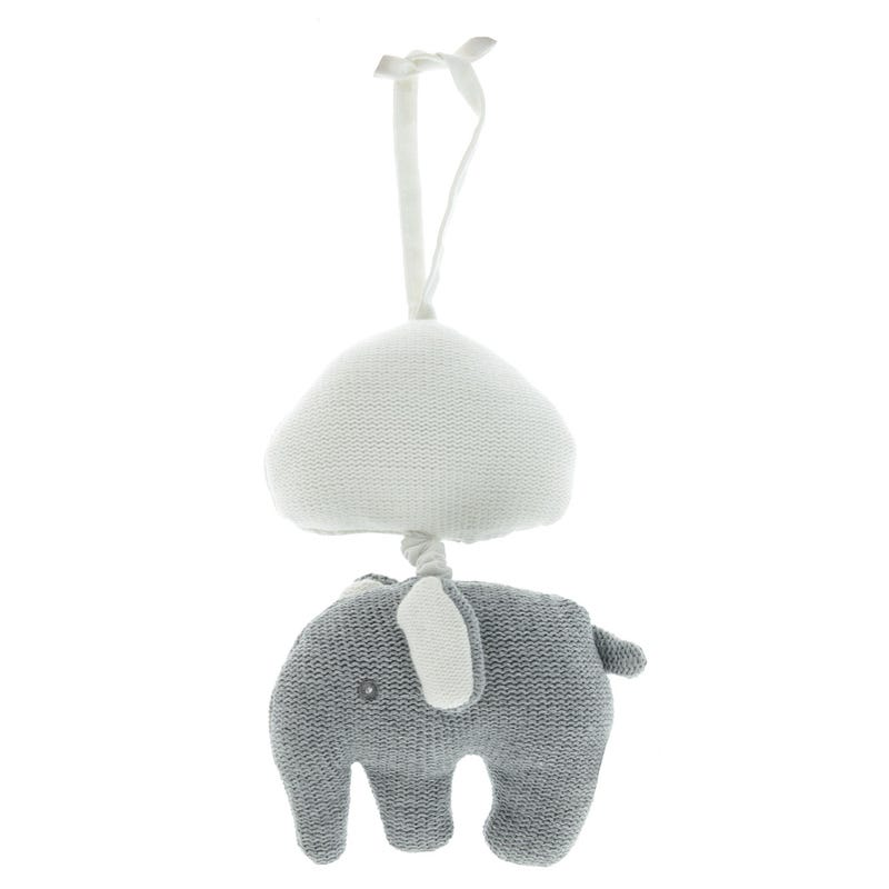 Elephant Musical Knitted Grey