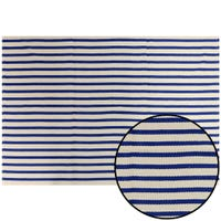 Striped Decorative Rug - Blue