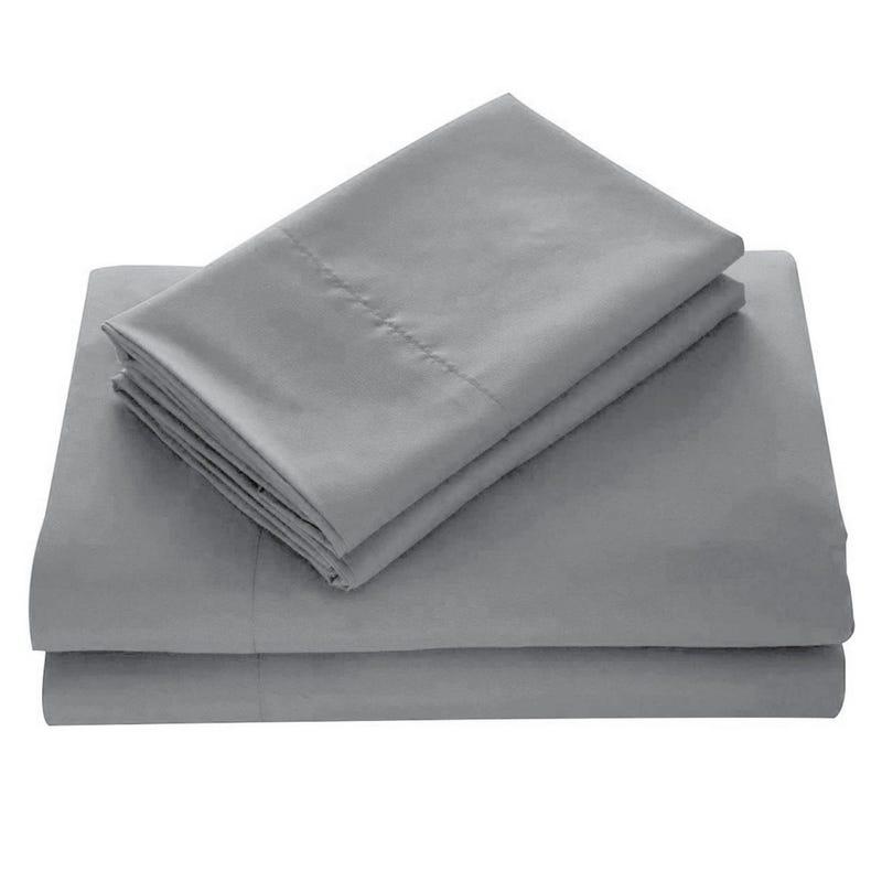 Double Sheet Set - Medium Grey