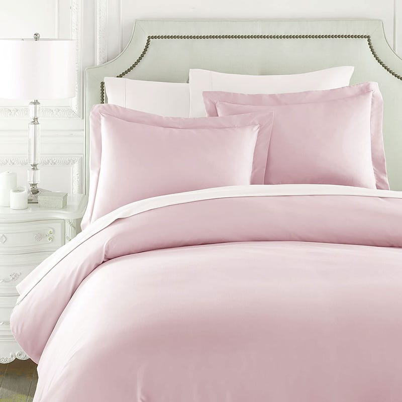 Duvet Cover Twin Set - Blush