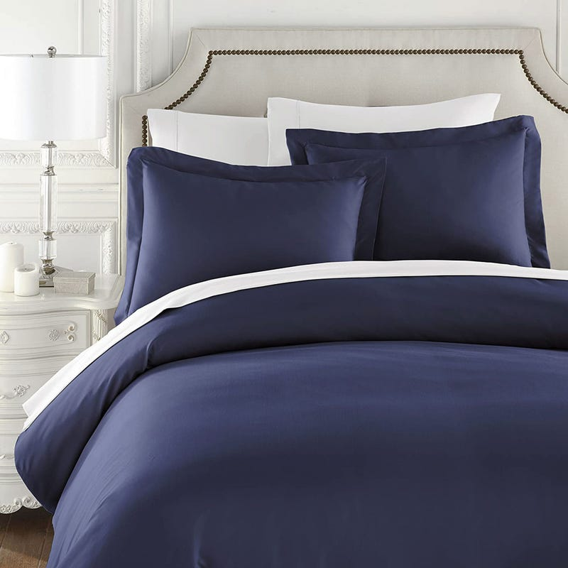 Duvet Cover Twin Set - Navy