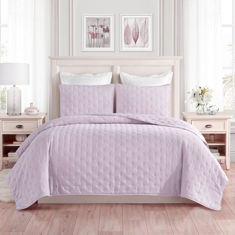 Courtepointe Lit Double / Queen - Lilas