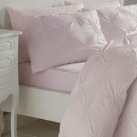 Floral Double Duvet Cover Set - Pink
