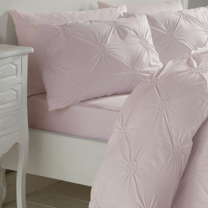 Floral Twin Duvet Cover Set - Pink