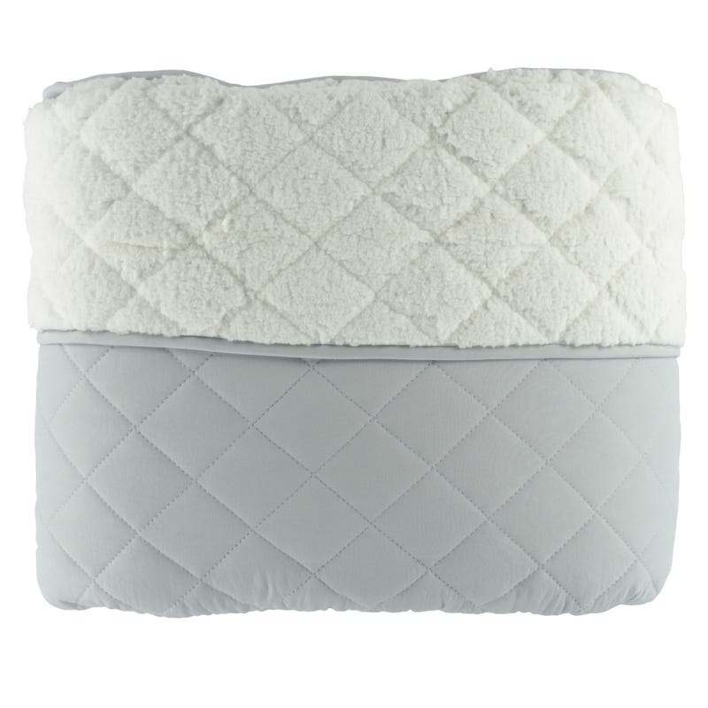 Sherpa Double Quilt Set - Grey