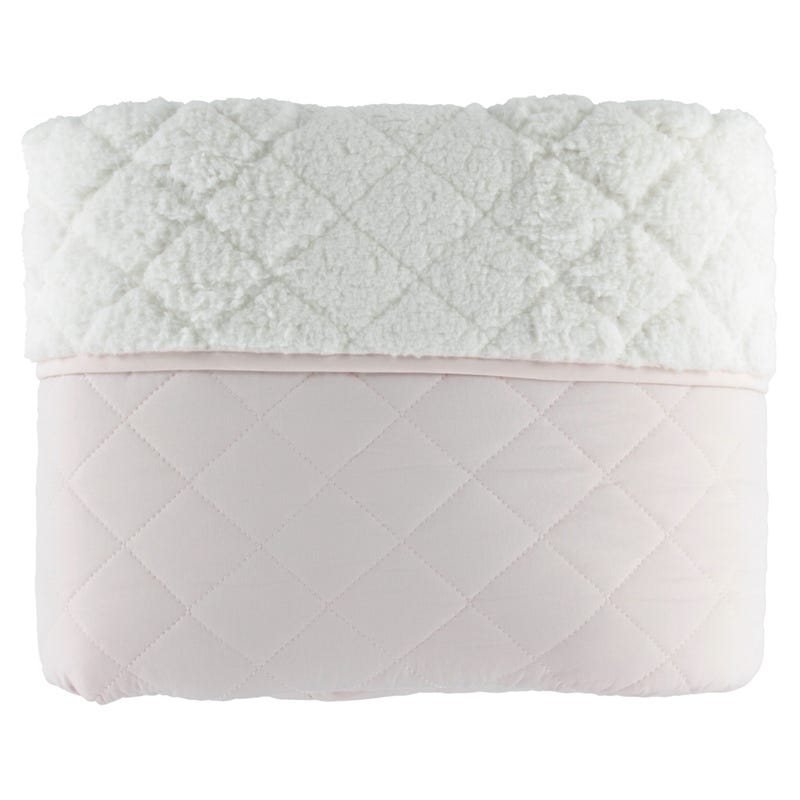 Sherpa Twin Quilt Set - Pink