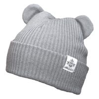 Knit Slouchy Bear Hat 0-12m