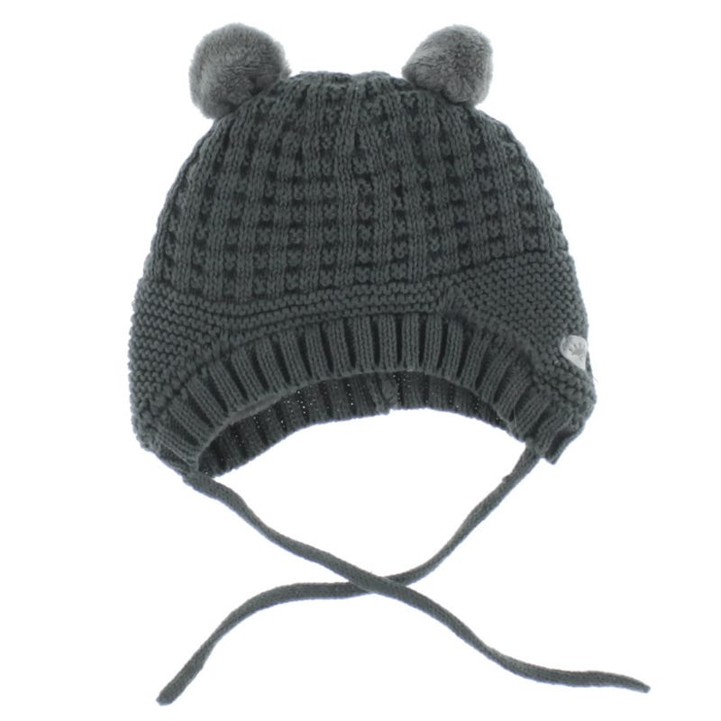 Knit Cotton Bear Hat 0-18m