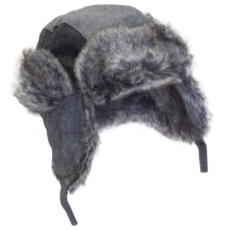 Wool Blend Avaitor Hat