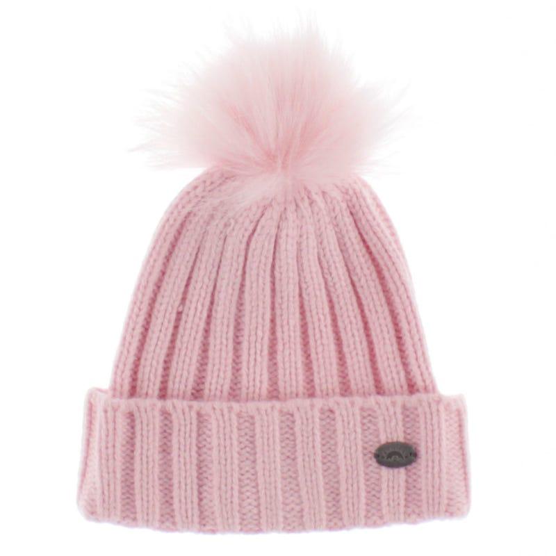 Cashmere Touch Pom Pom Hat 6-10y