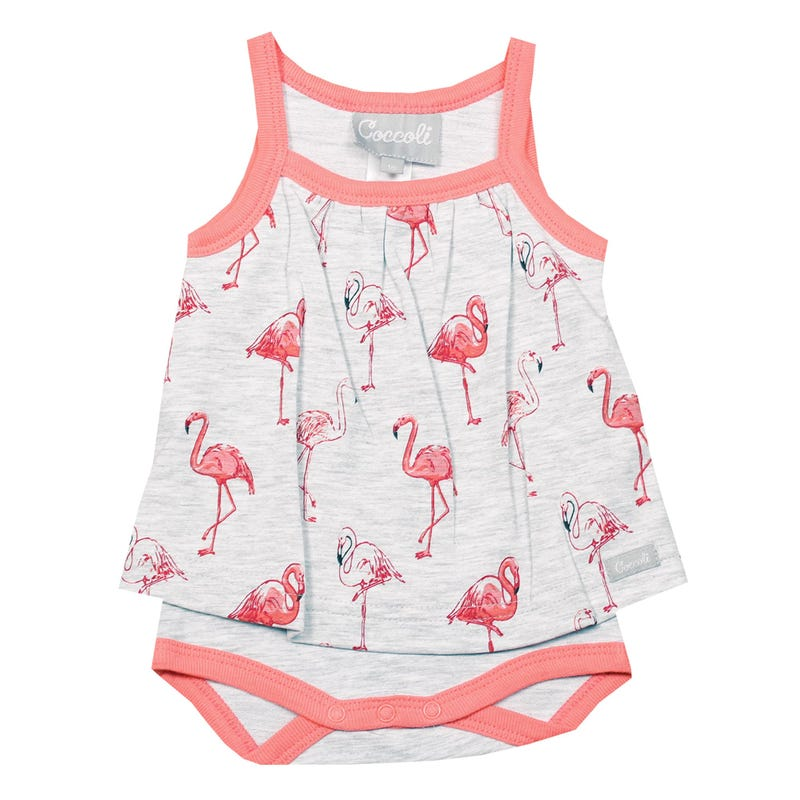 Flamingo Skirted Romper 1-18m