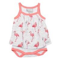 Flamingo Skirted Romper 1-18m