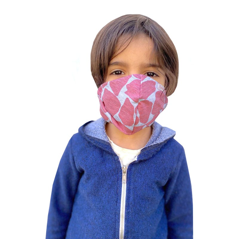 Protection Mask 2-16y - Pink Spot