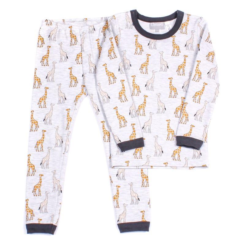 Pyjama 2 Pièces Long Girafe 2-12ans