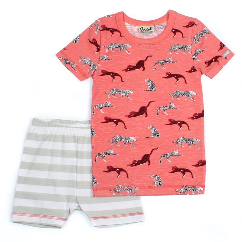 Pyjama 2 Pièces Court Léopard 2-10ans